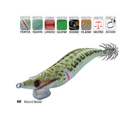Totanara DTD WONDED FISH OITA 3.0 - 9.0CM 15.0GR NATURAL WEEVER