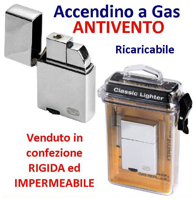 Accendino a gas antivento WIND