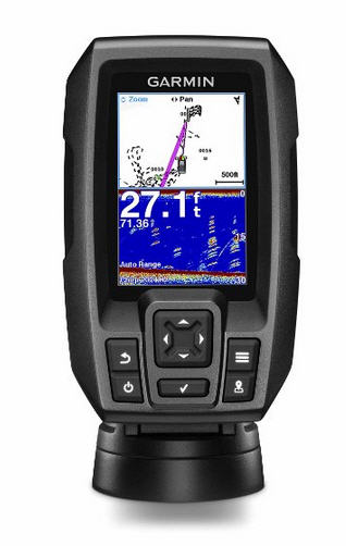 "ECO-GPS integrato GARMIN STRIKER 4 Fishfinder 3.5"" con TRASDUTTORE CHIRP"