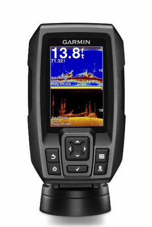 "ECO-GPS integrato GARMIN STRIKER 4CV Fishfinder 3.5"" con TRASDUTTORE CHIRP E ClearVü"