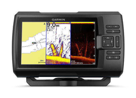 "ECO-GPS integrato GARMIN STRIKER 7CV PLUS Fishfinder 7"" con TRASDUTTORE CHIRP e ClearVü"