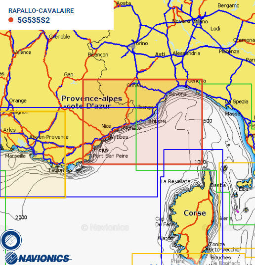 Cartografia NAVIONICS Small 535 Gold Area Small RAPALLO/CAVALAIRE