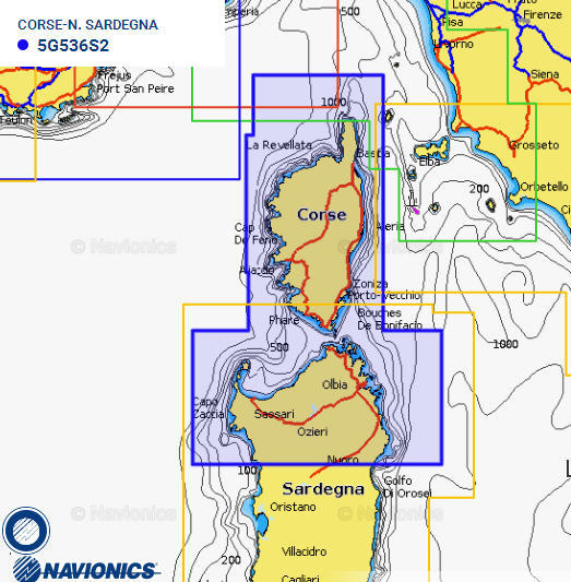 Cartografia NAVIONICS Small 536 Gold Area Small CORSE/N. SARDEGNA