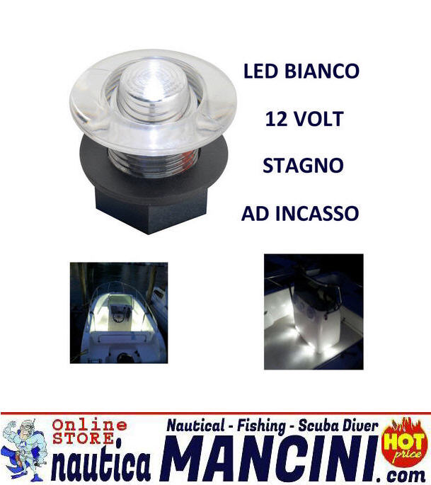 Luce di cortesia stagna a LED 12V Blu