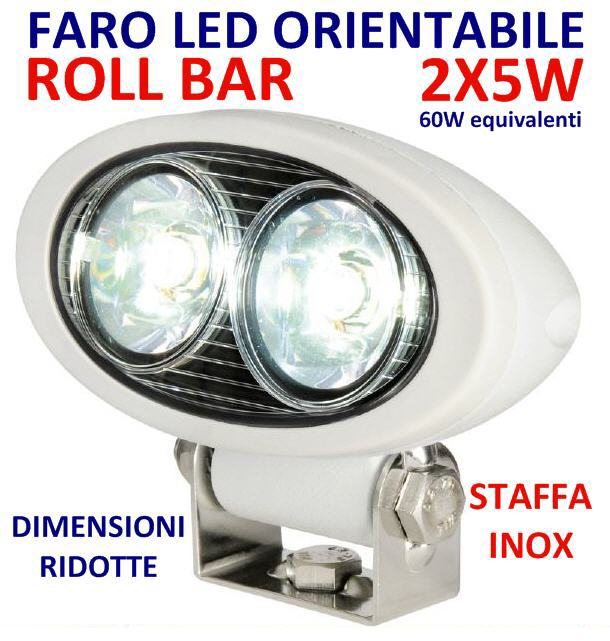 Faro ROLL-BAR 2X5W LED HD 12/24V