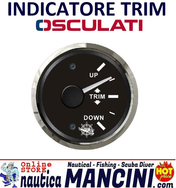 Indicatore Trim 0-190 Ohm Quadrante Nero