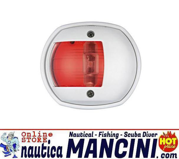 Fanale di via 12 mt COMPACT LED in ABS Bianco 112.5° ROSSO