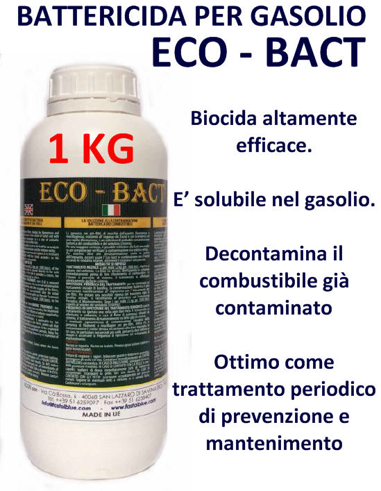 Additivo ECO-BACT Battericida per Carburante Diesel 1000 gr