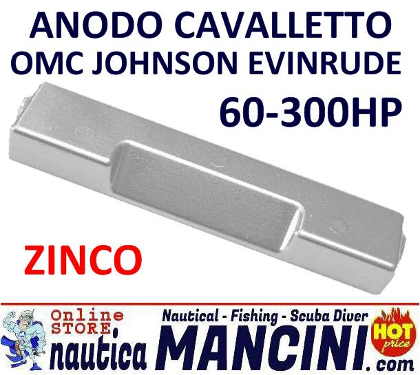 Anodo Cavalletto Barra OMC/Johnson/Evinrude 60/300HP Zinco